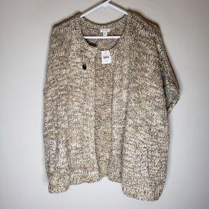 NWT J. Jill Sleeveless Oversized Open Sweater
